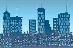 Skyscrapers at urban skyline stock illustration