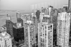 Skyscrapers of Vancouver from high viewpoint, BC - Canada Royalty Free Stock Images
