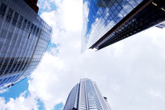 Skyscrapers vanish into the sky Royalty Free Stock Photography