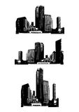 Skyscrapers. Vector. Illustration of skyscrapers. Vector art Vector Illustration