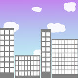 Skyscrapers vector background. Vector background with skyscapers and blue sky Royalty Free Stock Photo