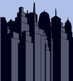 Skyscrapers vector image. City scape. Urban Landscape. Royalty Free Stock Photography