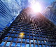 Skyscrapers view from below. Royalty Free Stock Photos