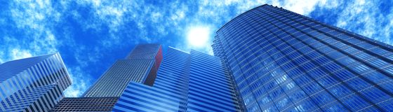 Skyscrapers view from below. Royalty Free Stock Images