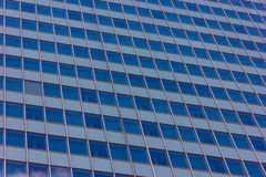 Skyscrapers view with blue sky building business concept reflexion Royalty Free Stock Images
