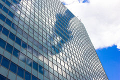 Skyscrapers view with blue sky building business concept reflexion Stock Photography