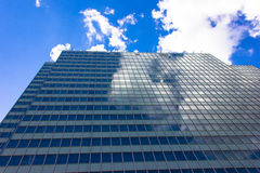 Skyscrapers view with blue sky building business concept reflexion Royalty Free Stock Photos