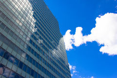 Skyscrapers view with blue sky building business concept reflexion Stock Images