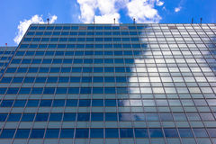 Skyscrapers view with blue sky details of building Stock Image