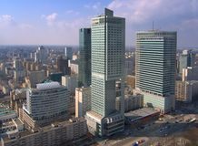 Skyscrapers in Warsaw Royalty Free Stock Image