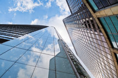 Skyscrapers with window reflections Royalty Free Stock Photo