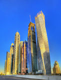 Skyscrapers in the World's Tallest Tower Block, Dubai Stock Photos