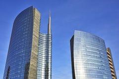 Skyscrapes在米兰,意大利 库存照片