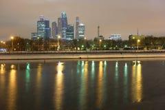 Skyscrapes города Москвы Стоковая Фотография