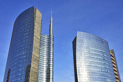 Skyscrapes in Milan, Italy Stock Photos
