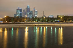 Skyscrapes of Moscow city Stock Photography