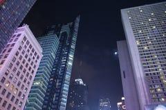 skyscrapper ночи newyork Стоковое Изображение RF