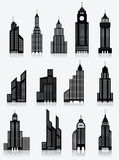 Skyscrapper icons Royalty Free Stock Image