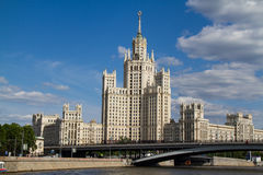 Skyscrapper in Moscow Stock Photography