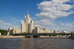 Skyscrapper in Moscow Stock Photo