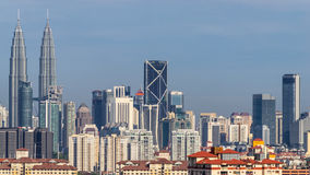 Skyscrappers στη Κουάλα Λουμπούρ στοκ φωτογραφία