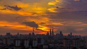 Skyscrappers στη Κουάλα Λουμπούρ στοκ εικόνα με δικαίωμα ελεύθερης χρήσης