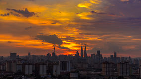 Skyscrappers в Куалае-Лумпур Стоковое Изображение RF