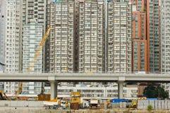 Skyscrappers in aanbouw Stock Afbeelding