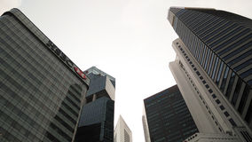 Skyscrappers against the sky in Singapore Royalty Free Stock Images