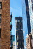 Skyscrappers coloridos en Nueva York, los E.E.U.U. Fotografía de archivo libre de regalías