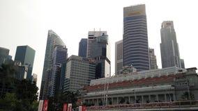 Skyscrappers contra o céu em Singapura Imagens de Stock Royalty Free