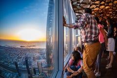 Skyscrappers Dubai en noche de verano Imagen de archivo