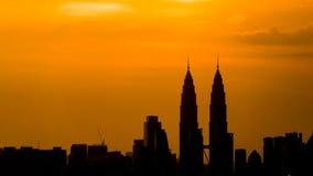 Skyscrappers i Kuala Lumpur Arkivbilder