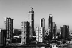 Skyscrappers laufen stockfoto