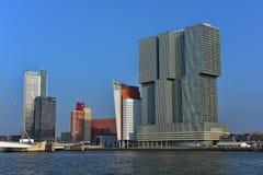 Skyscrappers op Wilhelminakade in Rotterdam Royalty-vrije Stock Foto's