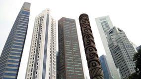 Skyscrappers tegen de hemel in Singapore Royalty-vrije Stock Foto's