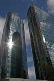 Skyscrappers van het glas Stock Foto's