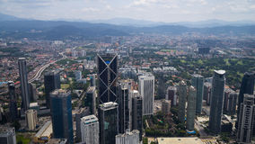 Skyscrappers w Kuala Lumpur Fotografia Royalty Free