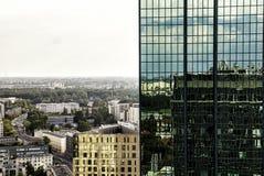 Skyscrapter над городом Стоковые Изображения