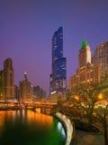 Skyscreapers i Chicago, Illinois, USA arkivfoto