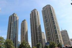 Skyskrapa i den tianjin staden Fotografering för Bildbyråer