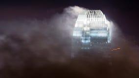 Skyskrapa i oklarheter Arkivbild