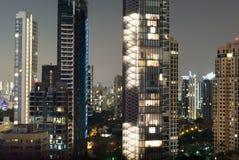 Skyskrapa i Singapore Royaltyfri Fotografi