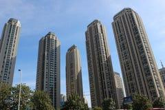 Skyskrapa i staden tianjin Kina Royaltyfri Bild