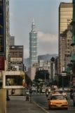 Skyskrapa 101 i Taipei, Taiwan Arkivbilder