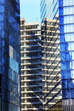 Skyskrapa New York NY för byggnader för nytt World Trade Centerabstrakt begrepp Glass Arkivfoto