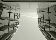 Skyskrapa och en horisont Arkivbilder