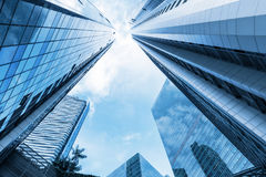 Skyskrapa och torn av affärsmitten Arkivfoto