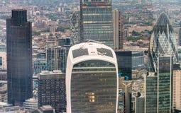 Skyskrapaaffärskontor, företags byggnad i London stad, E Royaltyfri Fotografi