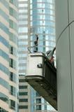 skyskrapaarbetare arkivbild